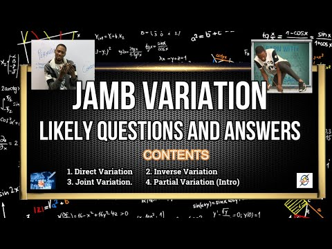 """Jamb 2021 Mathematics """"Variation"""" Likely Questions"""