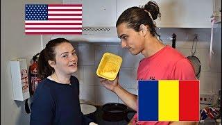American Learning Romanian Breakfast Words