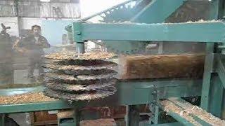 Amazing Fastest Wood Sawmill Machines Working - Wood Cutting...