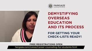 FairGaze | Webinars | Online Free Webinar| Overseas Education | Ms. Swati Singh