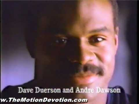 DAVE DUERSON - ANDRE DAWSON (Bears & Cubs)-1988 ad for WGN Radio Chicago