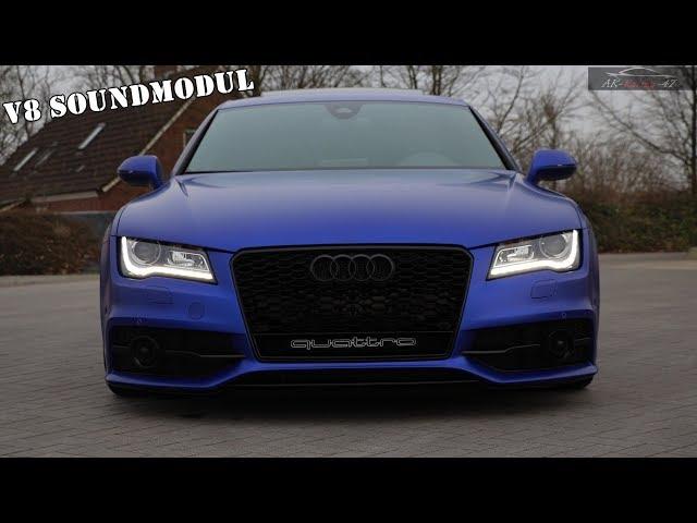 Audi A7   V8 Soundbooster   APP-Control   AK-Racing-47   Active Diesel Soundmodul