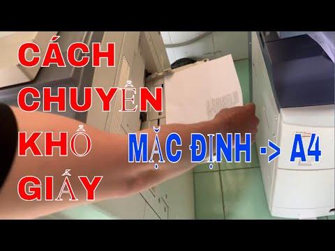 Cách chuyển Khổ giấy mặc định Sang A4 | Máy Photocopy toshiba e850