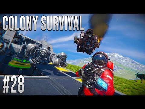 Space Engineers - Colony Survival Ep #28- ENEMY DETECTED!