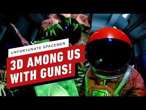 3D Among Us With Guns - Unfortunate Spacemen Gameplay