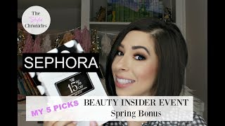 SEPHORA BEAUTY INSIDER EVENT 2018 | MY TOP 5 PICKS