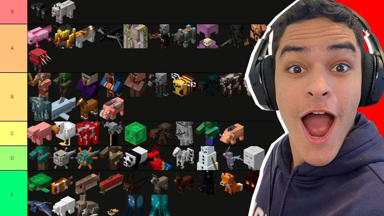 Rankeando os Mobs do Minecraft do MELHOR pro PIOR !!!