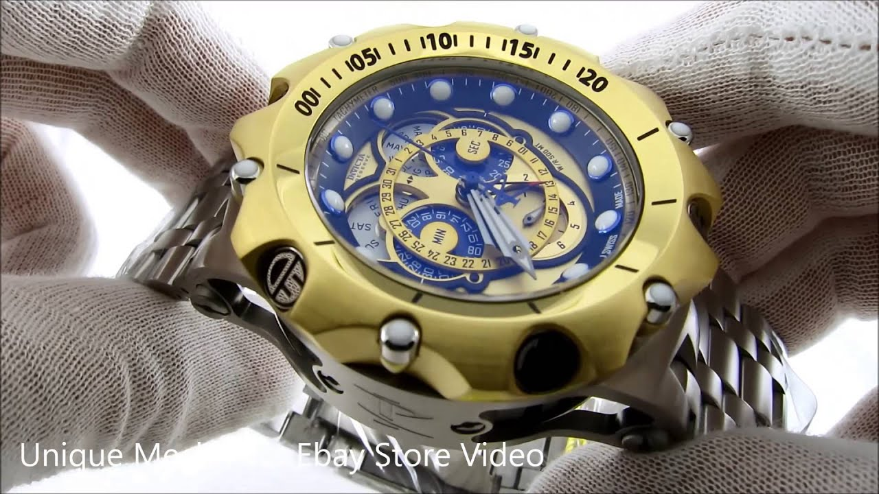 fd59181f171 Invicta venom mens hybrid chronograph gold dial stainless steel watch jpg  1280x720 Invicta watches venom hybrid