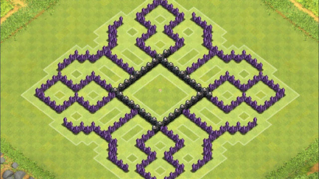 Clash of clans th8 hybrid base youtube