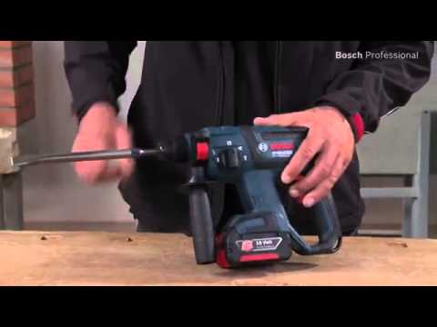 bosch gbh 18 v ec professional cordless rotary hammer drill youtube. Black Bedroom Furniture Sets. Home Design Ideas