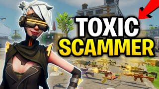 Toxic Scammer Scams Himself For Loads of 130s (Scammer Get Scammed) Fortnite Save The World
