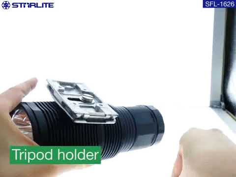 Extreme high bright 8800mAh water resistance IP67 rechargeable powerful handy size flashlight