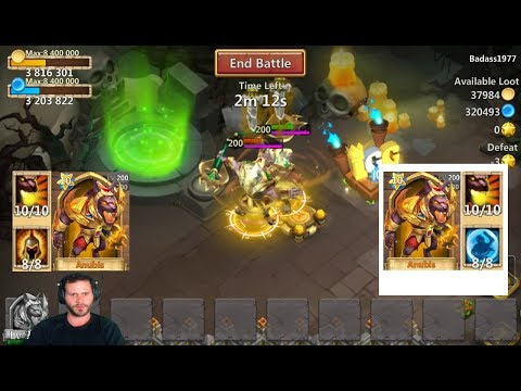 8 Wargod Anubis VS 8 Bulwark Anubis Who Wins Castle Clash