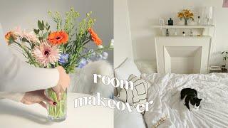 꽃시장 VLOG | Room makeover (꽃꽂이,…