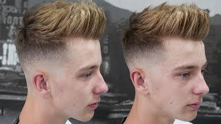 HOW TO DO A TEXTURED QUIFF || SKIN FADE WITH TEXTURED TOP HAIRCUT TUTORIAL