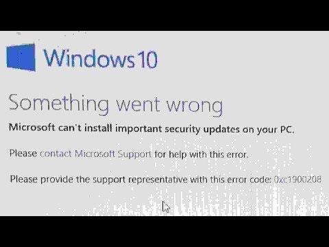 Windows 10 Something went wrong - YouTube