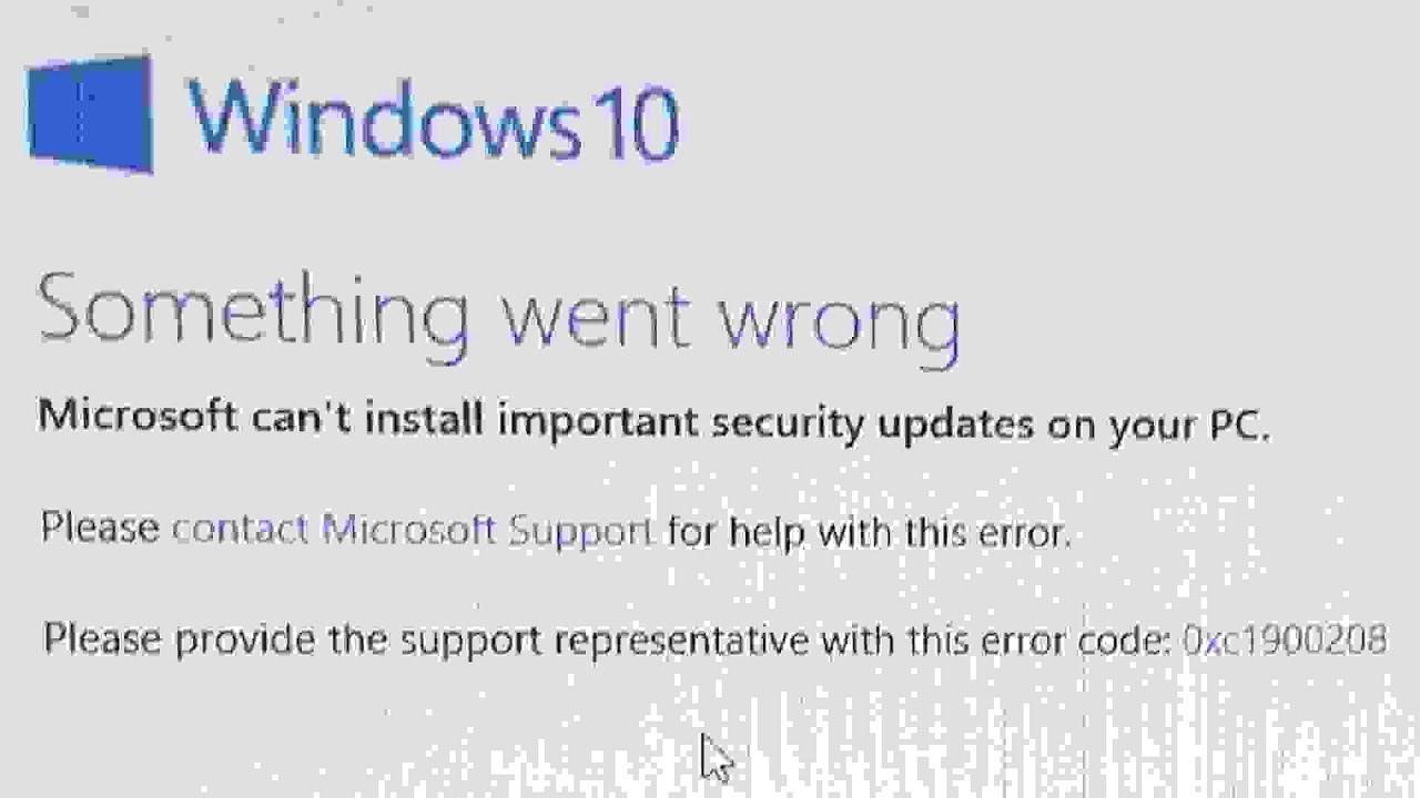 Windows 10 Something went wrong