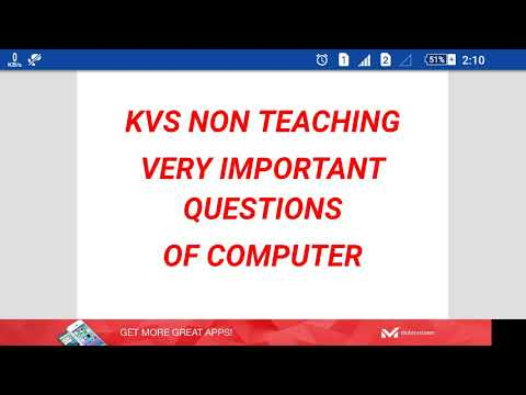 Kvs non teaching very important question of computer