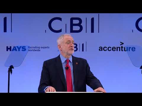 Labour Party leader Jeremy Corbyn at CBI Annual Conference