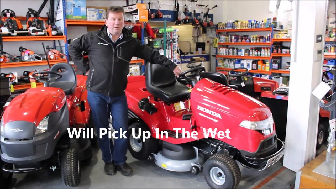 honda hf 2417 ride on lawnmower youtube. Black Bedroom Furniture Sets. Home Design Ideas