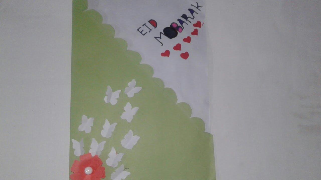 eid cardhow to make diy paper eid card  youtube
