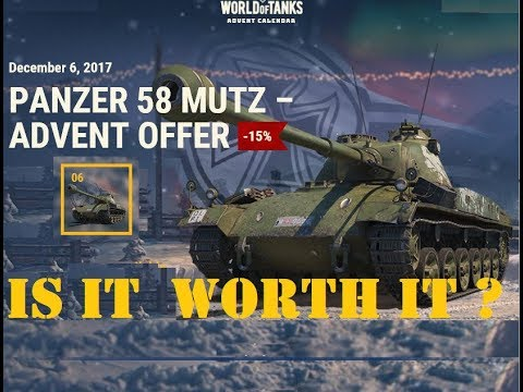 Gaming Bear Pz 58 Mutz Calendar day 6 Christmas 2017