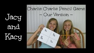 Charlie Charlie Pencil Game Challenge ~ Our Version ~ Jacy and Kacy