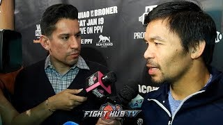 "MANNY PACQUIAO SAYS HE NEVER SAID NO TO CRAWFORD FIGHT !""WANTED TO FIGHT HIM BEFORE THE HORN FIGHT!"""