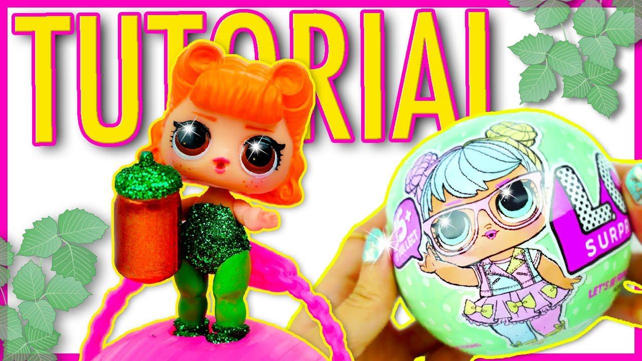 POISON IVY Custom LOL Surprise Dolls Series 2 DIY 🌸 Doll Tutorial