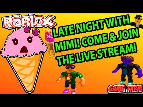 MIMI PLAYING ROBLOX LIVE! - YouTube