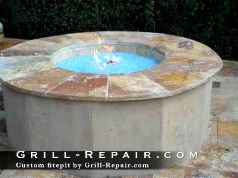 custom fire pit from Grill-Repair.com - YouTube