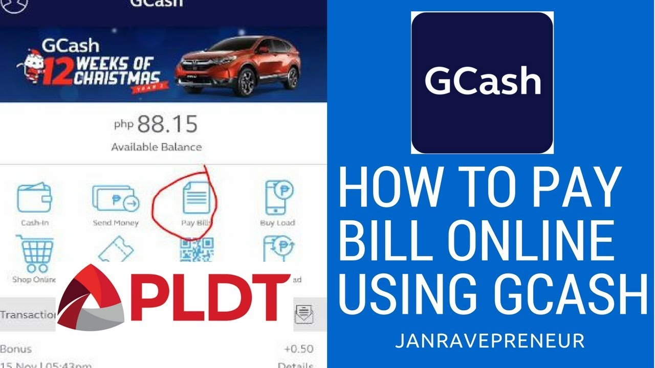 How to pay bill online using GCASH - janravepreneur Tutorial