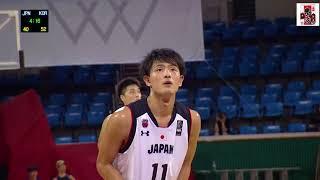 [U22日本代]日本vs韓国(延世大学) ハイライト@アジアU22大会2018[バスケ日本代表]