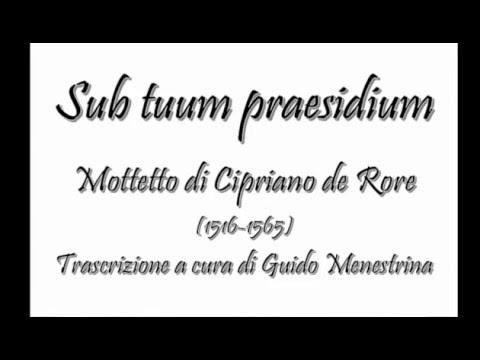 Cipriano de Rore - Sub tuum praesidium