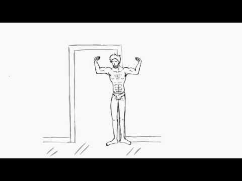 Growing muscle boy animation