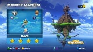 Walkthrough: Sonic & All-Stars Racing Transformed - Sunshine Coast #6 - Race - Monkey Mayhem