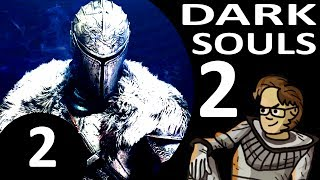 Let's Play Dark Souls 2 Part 2 - Dragonrider Boss, Heide's Tower of Flame (Cleric, Blind)