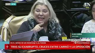 Diputados: Cruces entre Carrió y la oposición por su exabrupto sobre De la Sota