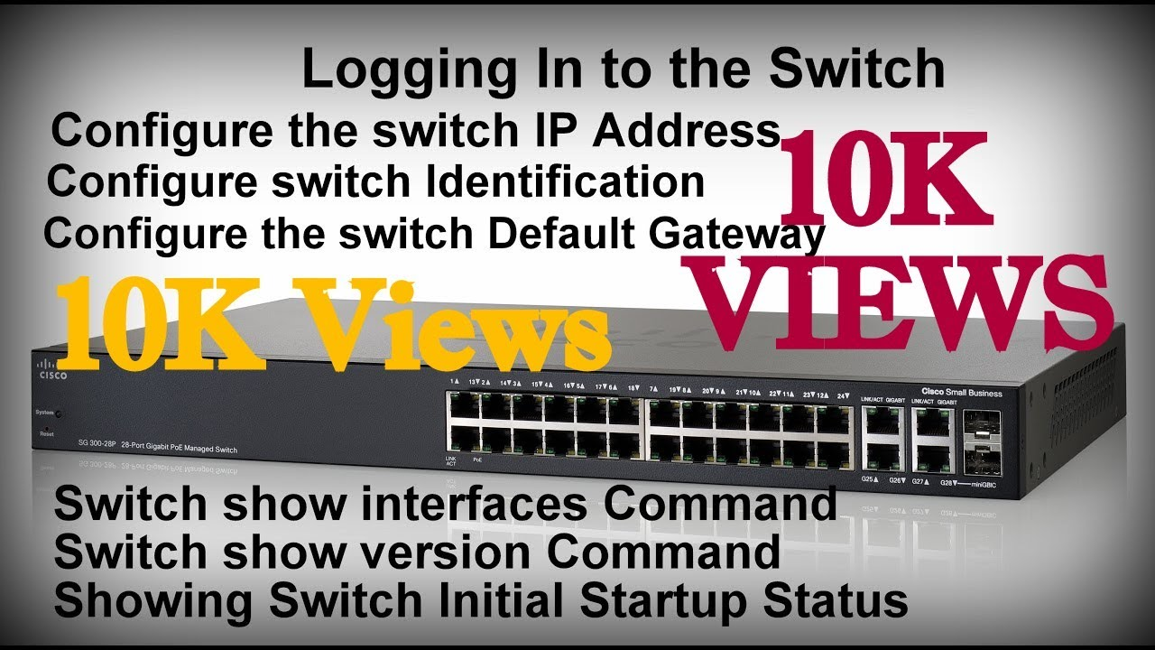 Logging In to the Switch  !! How to Configure Switches  !!  HINDI  !!