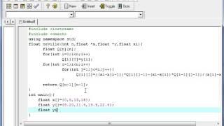Algoritmo de Neville con C++