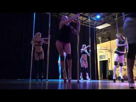 7 Rings - Ariana Grande Beginner Pole And Floor Dance Routine 3-5-19