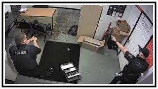 Police Thwart Robbery In Progress At Verizon Store | CCTV & Body Cam | United States | 20190717