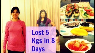 Lost 5 kgs in 8 days|| 8 Weeks Weight Loss Challenge|| Lose Weight with me