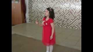 Ayşegül Şen Hatay Dörtyol İlkadım Anaokulu İstiklal Marşı Yarışması Birincisi 2013