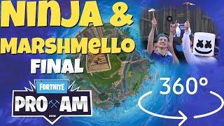 Fortnite VR Gameplay   NINJA & MARSHMELLO pro-am Final 360° E3!!