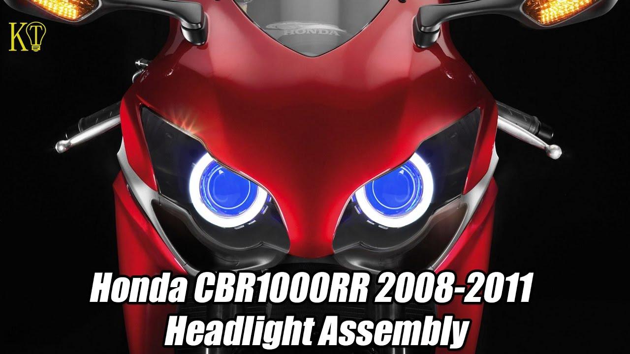 kt headlight assembly fit for honda cbr1000rr 2008 2011 v1. Black Bedroom Furniture Sets. Home Design Ideas