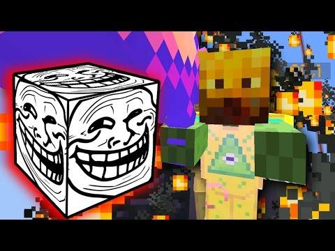 ILLUMINATI ZOMBIE! - Minecraft TROLL LUCKY BLOCK STAIRCASE