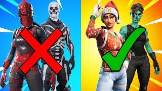 the ONLY 10 RARE SKINS Left in Fortnite.. (NO ONE has these skins)