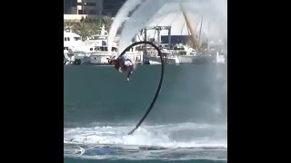 Flyboard Backflip Training with Day & Night Dubai