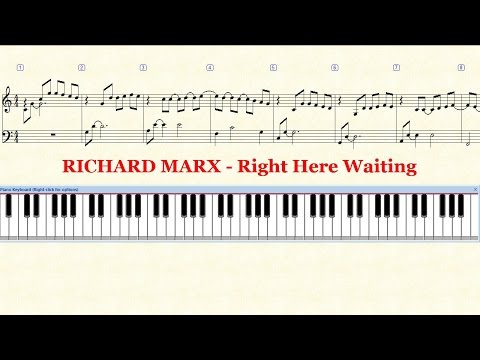 Richard marx right here waiting piano chords